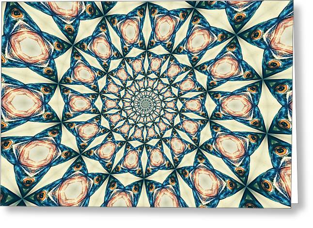 Fish Spiral Greeting Card by Neil Overy