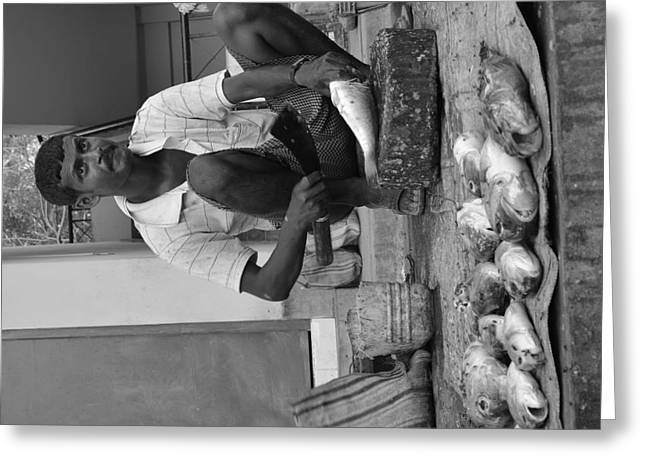 Fish Stall  Greeting Card by Bobby Mandal