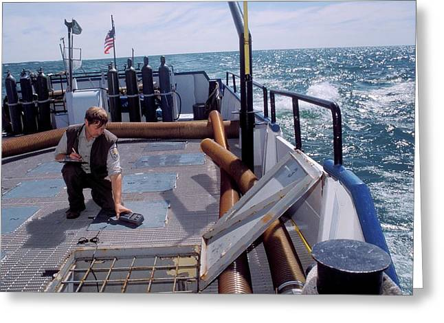 Fish Stocking In Lake Michigan Greeting Card