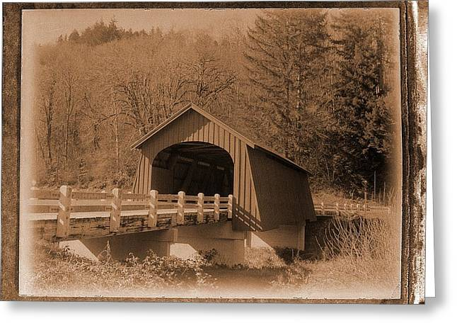 Fisher Covered Bridge Greeting Card