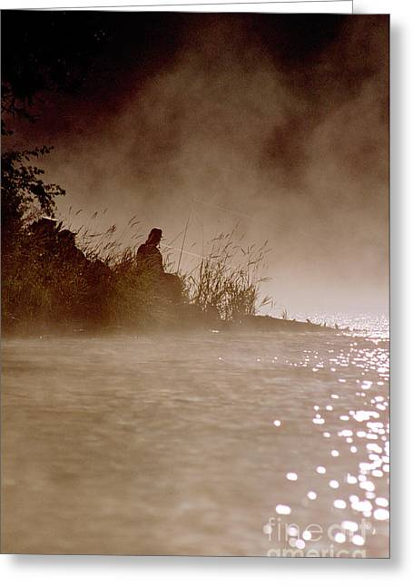 Fisher In The Mist Greeting Card