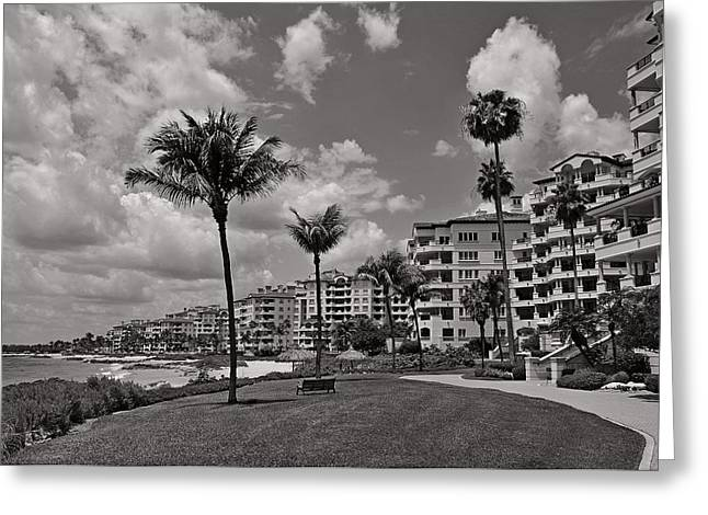 Greeting Card featuring the photograph Fisher Island by Lorenzo Cassina