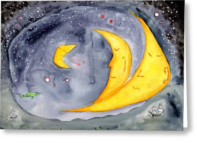 Fisher Moon Greeting Card
