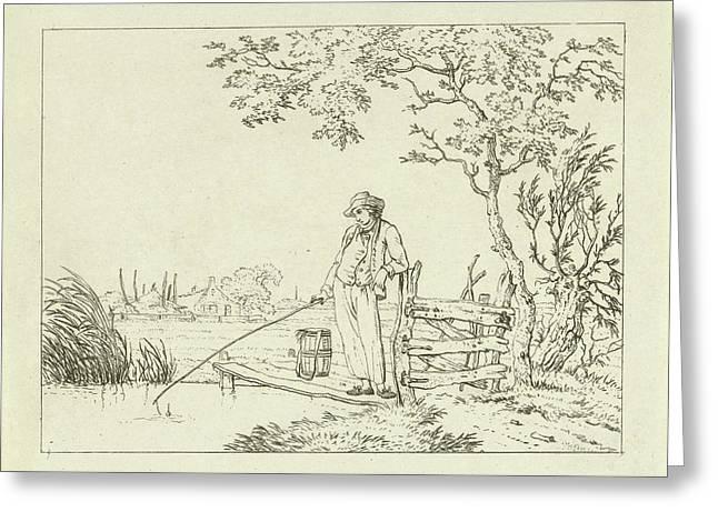Fisher On Deck, Hermanus Fock Greeting Card