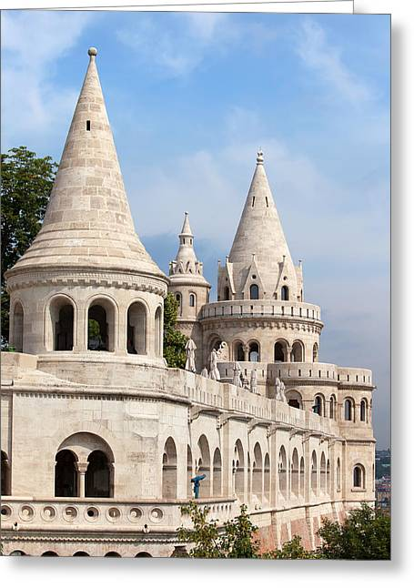 Fisherman Bastion In Budapest Greeting Card by Artur Bogacki