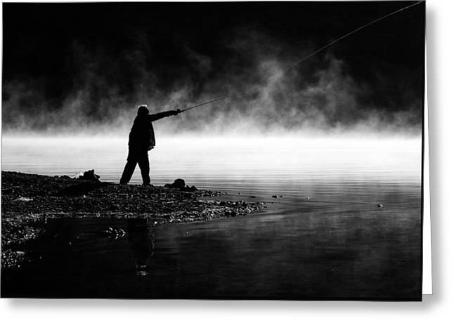 Fisherman Casting Greeting Card