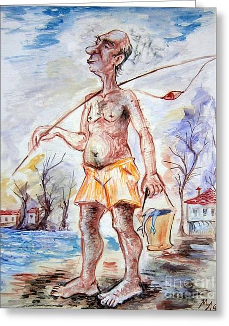 Fisherman Greeting Card by Milen Litchkov