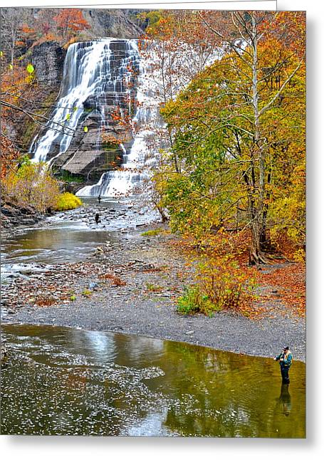 Fisherman One With Nature Greeting Card by Frozen in Time Fine Art Photography