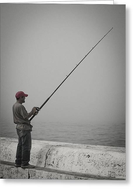 Fisherman Greeting Card by Tom Hudson