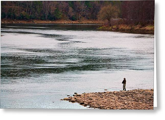 Fisherman Greeting Card by Azy Foley Photography