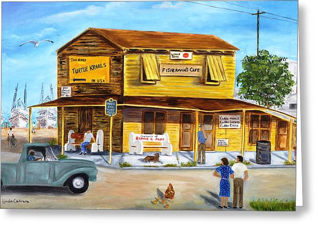 Fisherman's Cafe Greeting Card