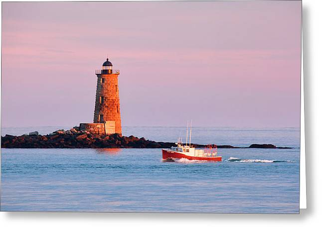 Fisherman's Delight Greeting Card by Eric Gendron