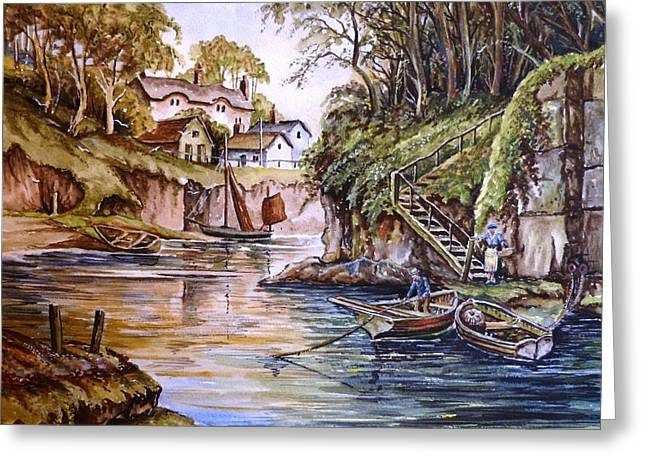 Fisherman's Hideaway Greeting Card by Andrew Read