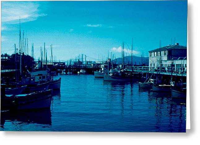 Fisherman's Wharf 1955 Greeting Card by Cumberland Warden