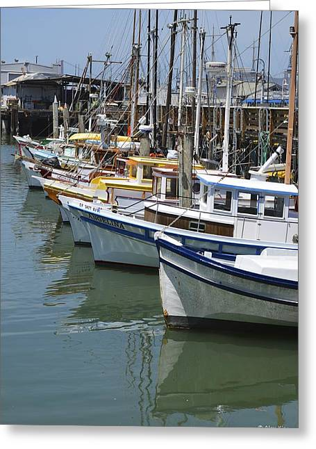 Fishermans Wharf Greeting Card by Alex King
