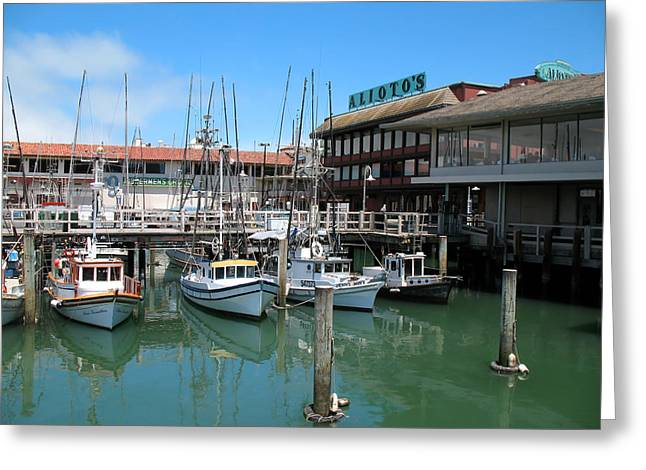 Fishermans Wharf Greeting Card by Connie Fox