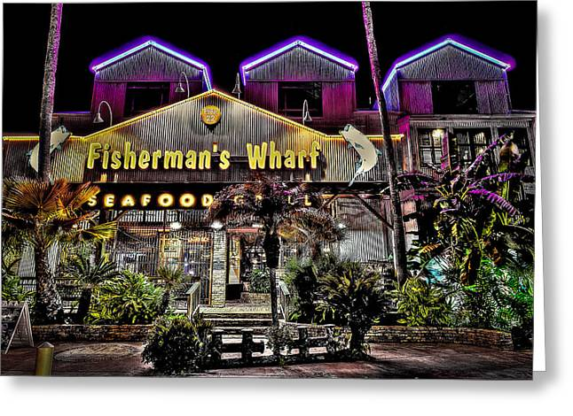 Fisherman's Wharf Greeting Card by David Morefield