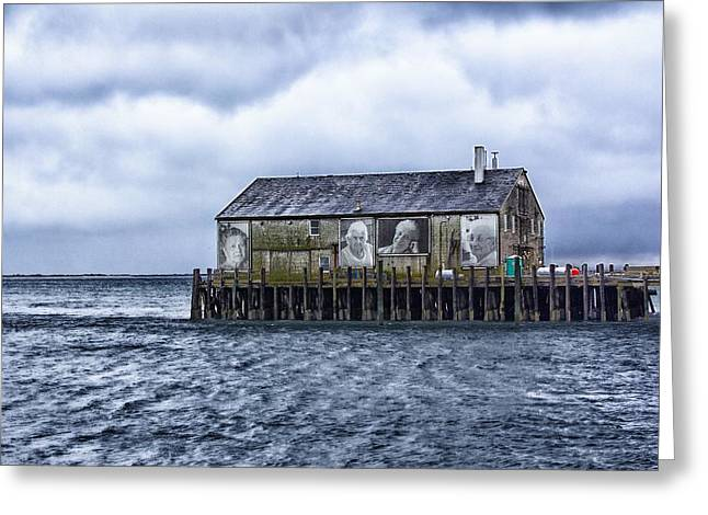 Greeting Card featuring the photograph Fishermans Wharf Provincetown Harbor by Constantine Gregory