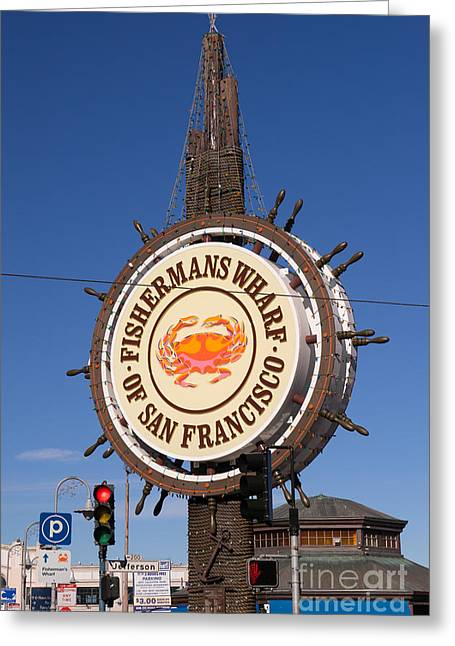 Fishermans Wharf San Francisco California Dsc2028 Greeting Card by Wingsdomain Art and Photography