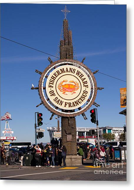 Fishermans Wharf San Francisco California Dsc2030 Greeting Card by Wingsdomain Art and Photography