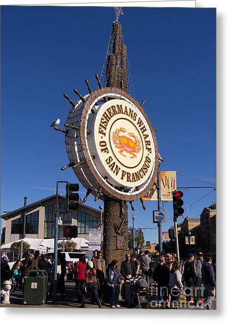Fishermans Wharf San Francisco California Dsc2043 Greeting Card by Wingsdomain Art and Photography