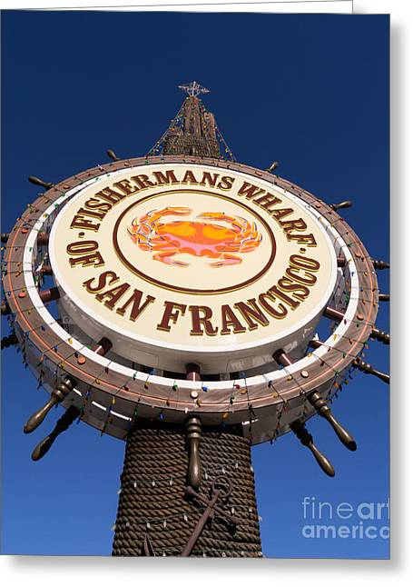 Fishermans Wharf San Francisco California Dsc2050 Greeting Card by Wingsdomain Art and Photography