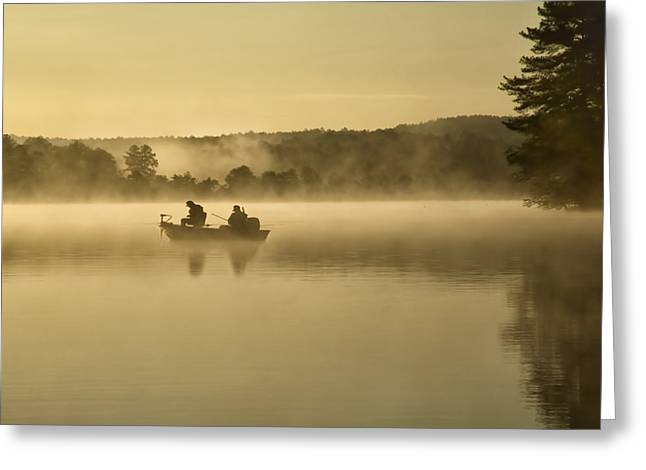 Fishermen Greeting Card by Steven  Michael