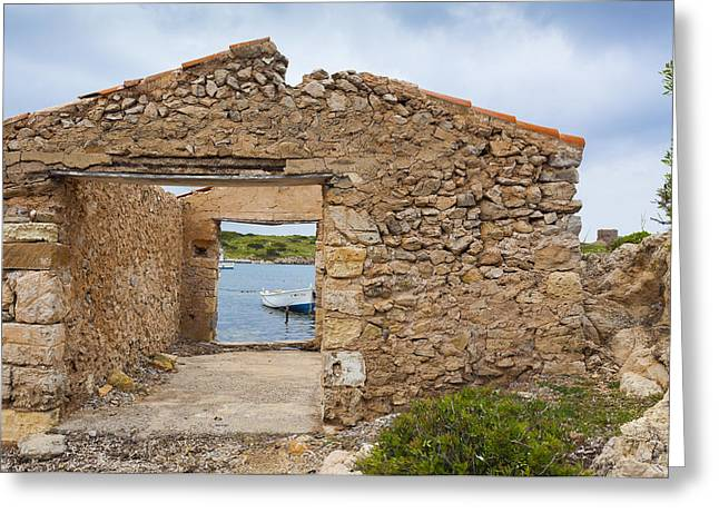 Fishermen's House Greeting Card by Antonio Macias Marin