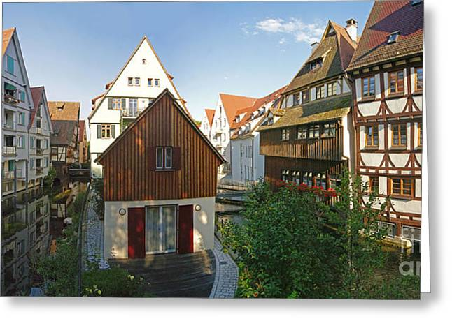 fishermens quarter in Ulm Greeting Card