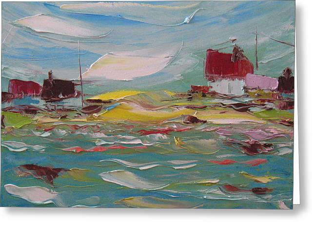 Fishers Bay Greeting Card by Solomoon Art Studio