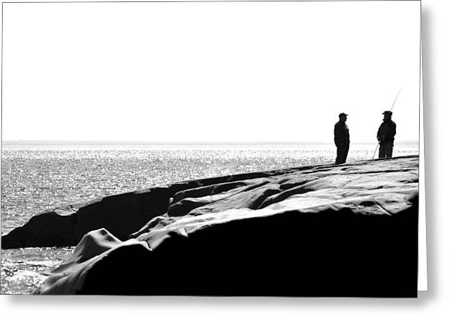 Fishers By The Sea Greeting Card by Matthew Blum