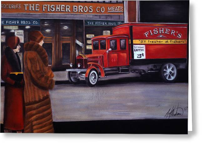 Fisher's Store Greeting Card by Leah Wiedemer