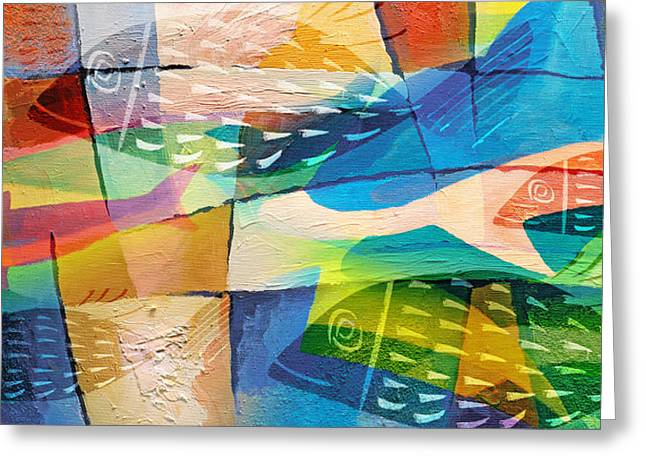 Fishes Panorama Greeting Card by Lutz Baar