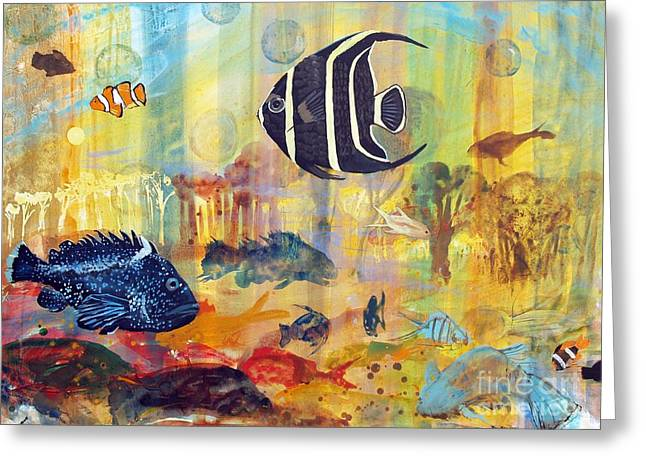 Fishes Greeting Card by Robin Maria Pedrero