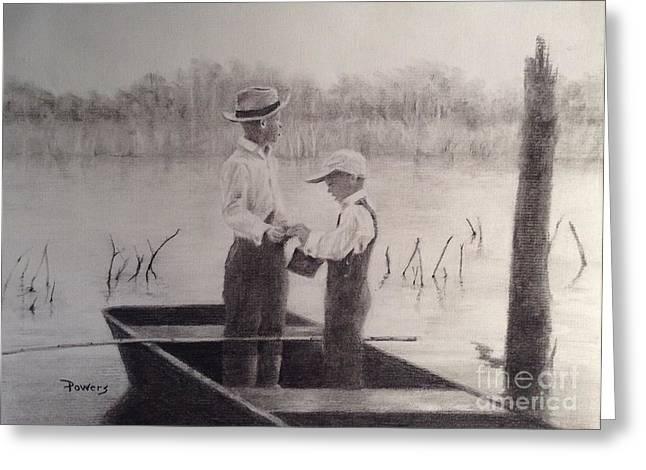 Fishin' Buddies Greeting Card by Mary Lynne Powers