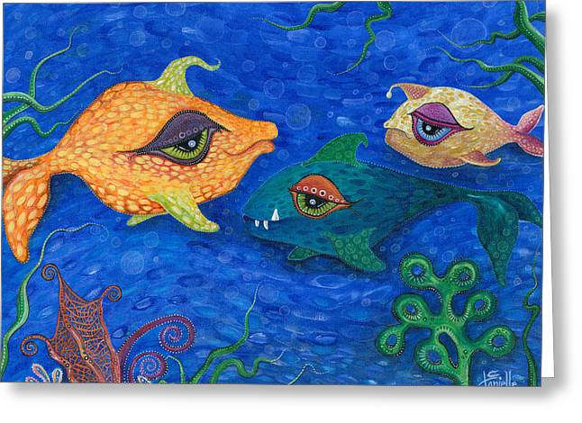 Fishin' For Smiles Greeting Card by Tanielle Childers