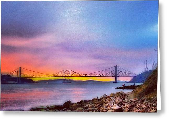 Fishing At Sunset Greeting Card by Brian Maloney