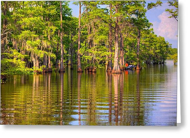 Fishing At The Bayou Greeting Card