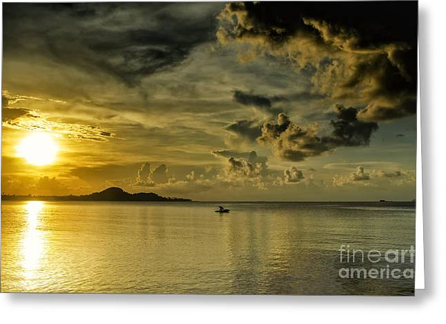 Fishing Before Dark Greeting Card