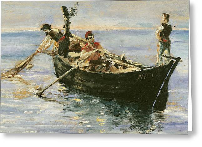 Fishing Boat Greeting Card by Henri de Toulouse-Lautrec