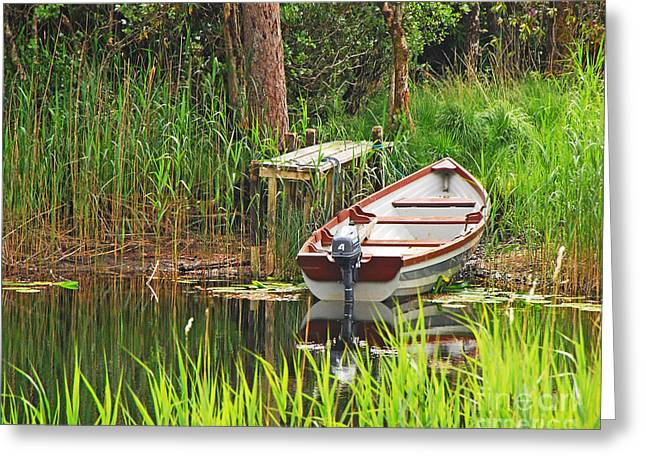 Greeting Card featuring the photograph Fishing Boat by Mary Carol Story