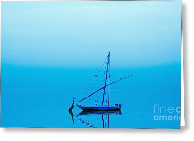 Greeting Card featuring the photograph Fishing Boat  by Mohamed Elkhamisy