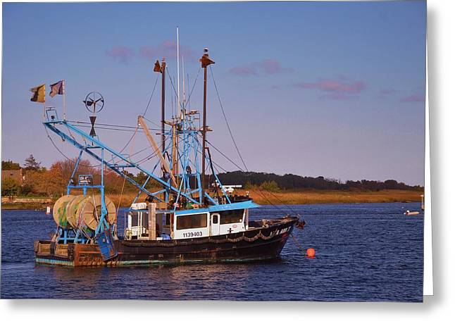 Fishing Boat Newburyport Greeting Card