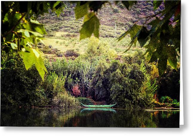 Fishing Boat On The River Douro Greeting Card by Lynn Bolt