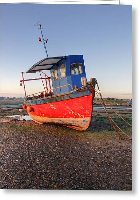 Fishing Boat On The River Exe Greeting Card by Ollie Taylor
