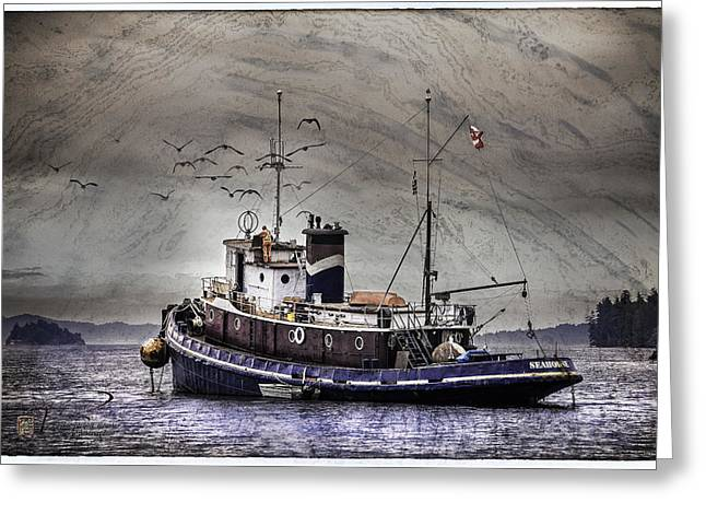 Fishing Boat Greeting Card by Peter v Quenter