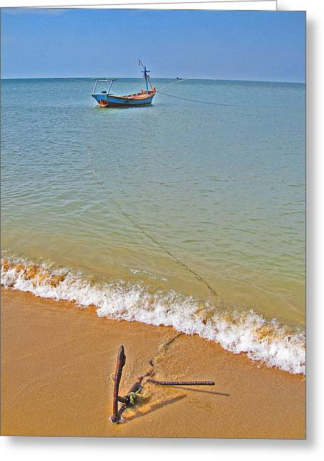 Fishing Boat. Phu Quoc. Vietnam. Greeting Card