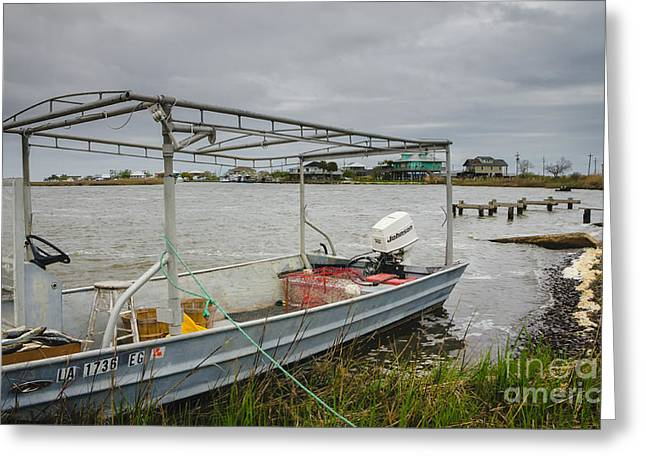 Fishing Boat With Catch Greeting Card