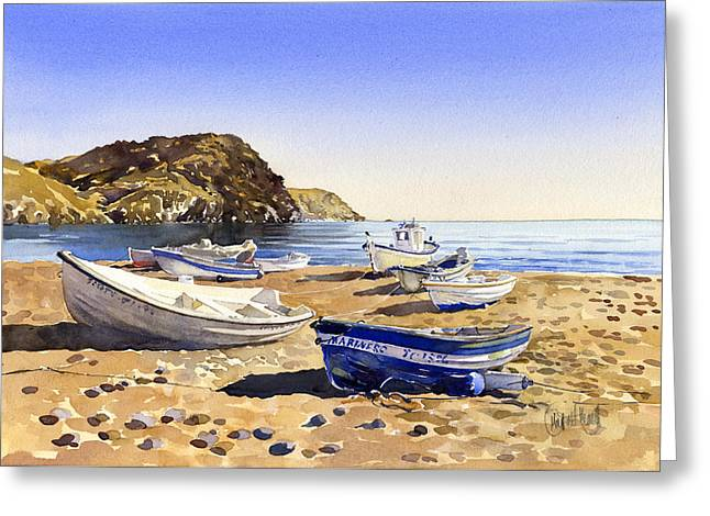 Fishing Boats At Las Negras Greeting Card by Margaret Merry