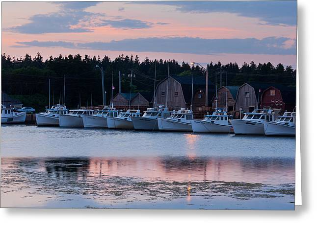 Fishing Boats At Malpeque Harbour Greeting Card by Matt Dobson